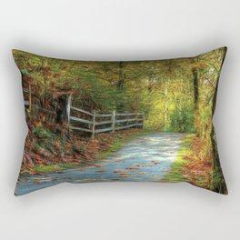 Fenced Autumn Rectangular Pillow