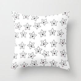 Baby Stars (White) Throw Pillow