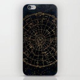Golden Star Map iPhone Skin