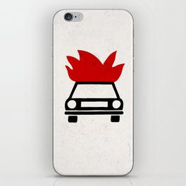 the car's on fire iPhone Skin