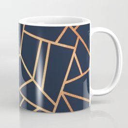 navy and gold abstract Coffee Mug