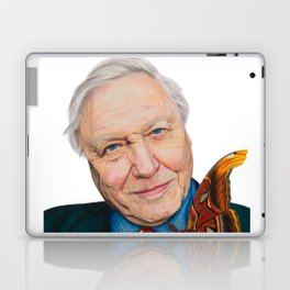 SIR DAVID ATTENBOROUGH 2015 71cm x 49cm Prismacolor & Mixed Media Laptop & iPad Skin