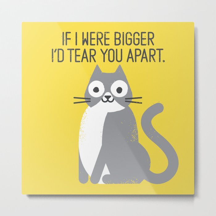 Purrfectly Honest Metal Print