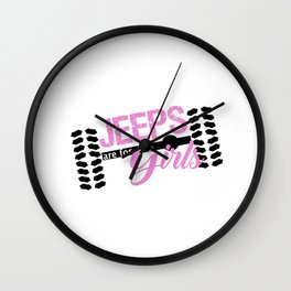 Jeeps are for Girls Wall Clock