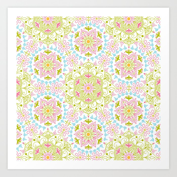 Mandala_Spring Art Print