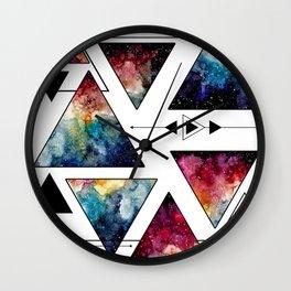 Galaxy Geometric Pattern 11 Wall Clock