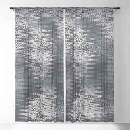 mona waveform Sheer Curtain