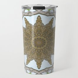 Bark Leaves Stone Kaleidoscope Art 2 Travel Mug