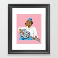 Hound Dog Slim Framed Art Print