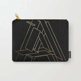 Gold Armor Letter A Carry-All Pouch