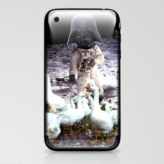 Goats Peter guards goose on the moon... iPhone & iPod Skin