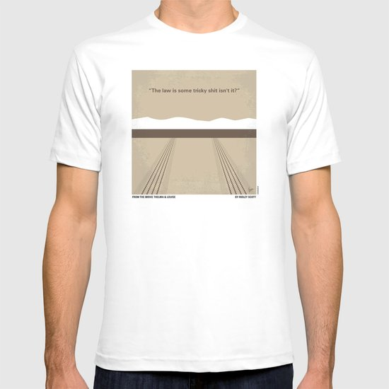 No189 My Thelma and Louise minimal movie poster T-shirt