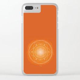 SVADHISTANA Boho mandala Clear iPhone Case