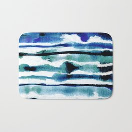 Laguna Watercolor Stripe Bath Mat