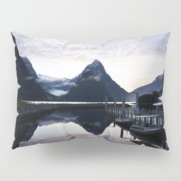 Sunset to die for at Milford Sound Pillow Sham