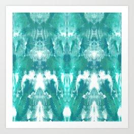 Aqua Blue Lagoon Art Print