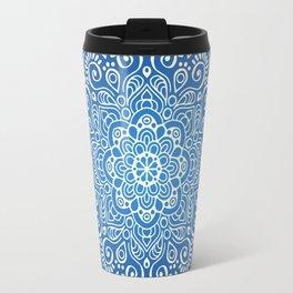 Mandala dark blue Travel Mug
