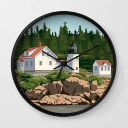 Bass Harbor Lighthouse Maine Wall Clock