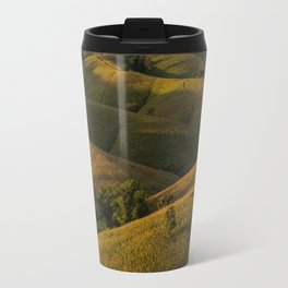 Rolling green Fairytale Hills English Countryside Landscape Travel Mug