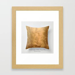 Brushed Copper Metallic Throw Pillow Art Print - Postmodernism - Jeff Koons Inspired Pop Art Framed Art Print