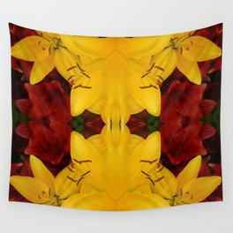"""""""A Gathering of Lilies"""" Remix - 2 (4-1) [D4466~24] Wall Tapestry"""