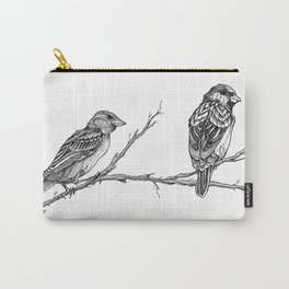 Two Sparrows by Sketchy Reputation Carry-All Pouch