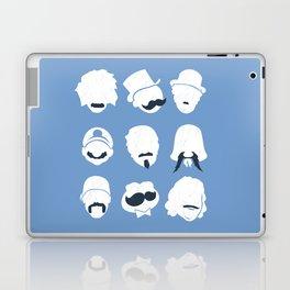 Famous Moustaches blue Laptop & iPad Skin