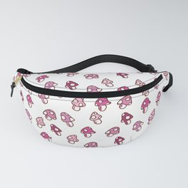 Pink Fairy Toadstools Pattern - seamless pattern Fanny Pack