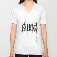 swag V-neck T-shirts featuring SWAG by John D'Amelio
