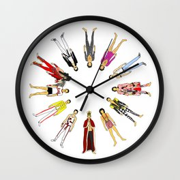 Outfits of Freddie Fashion Wall Clock
