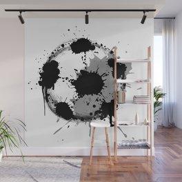 Grunge football ball Wall Mural