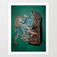 street fighter Art Prints featuring Street Fighter by Christopher Schons