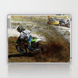Round the Bend - Dirt-Bike Racing Laptop & iPad Skin