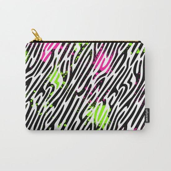 Wild Zebra Print Carry-All Pouch