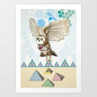 journey Art Prints featuring Journey by Jo Cheung Illustration