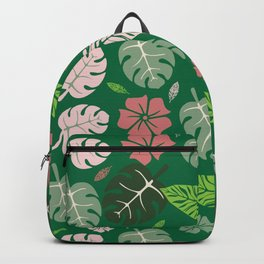 Tropical leaves green paradise #homedecor #apparel #tropical Backpack