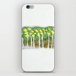 Yellow flowers 2 iPhone Skin