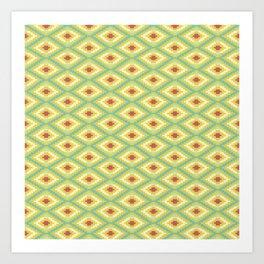 Pattern Nazca Limón Art Print