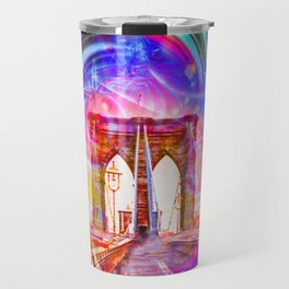 New York Brooklyn Bridge Travel Mug