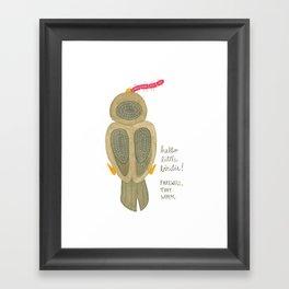 hello little birdie Framed Art Print