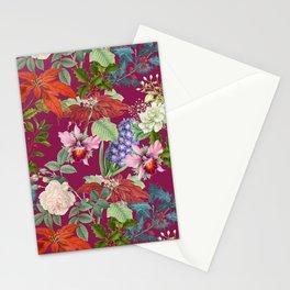 WINTER GARDEN - BURGUNDY  Stationery Cards