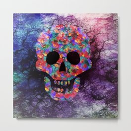 Happy skull Metal Print