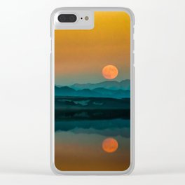 Serene Sunrise by the Lake Clear iPhone Case