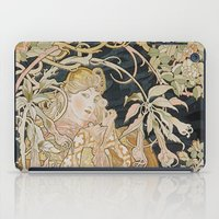 mucha iPad Cases featuring 1898 - 1900 Femme a Marguerite by Alphonse Mucha by BookCollecting101