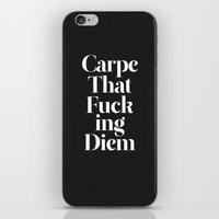 lol iPhone & iPod Skins featuring Carpe by WRDBNR