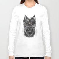 schnauzer Long Sleeve T-shirts featuring MR. SCHNAUZER by Sukma Arisanti