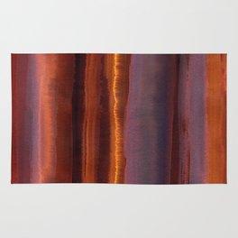 Wildfire Watercolor Stripe Rug