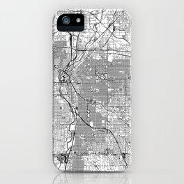 Denver White Map iPhone Case