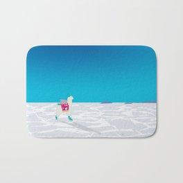 Bolivia Salt Flats Travel Poster Bath Mat