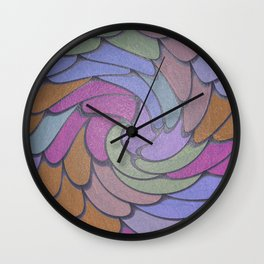 Twisted Scales Wall Clock
